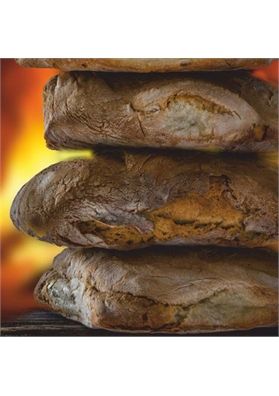 Durum wheat flour bread